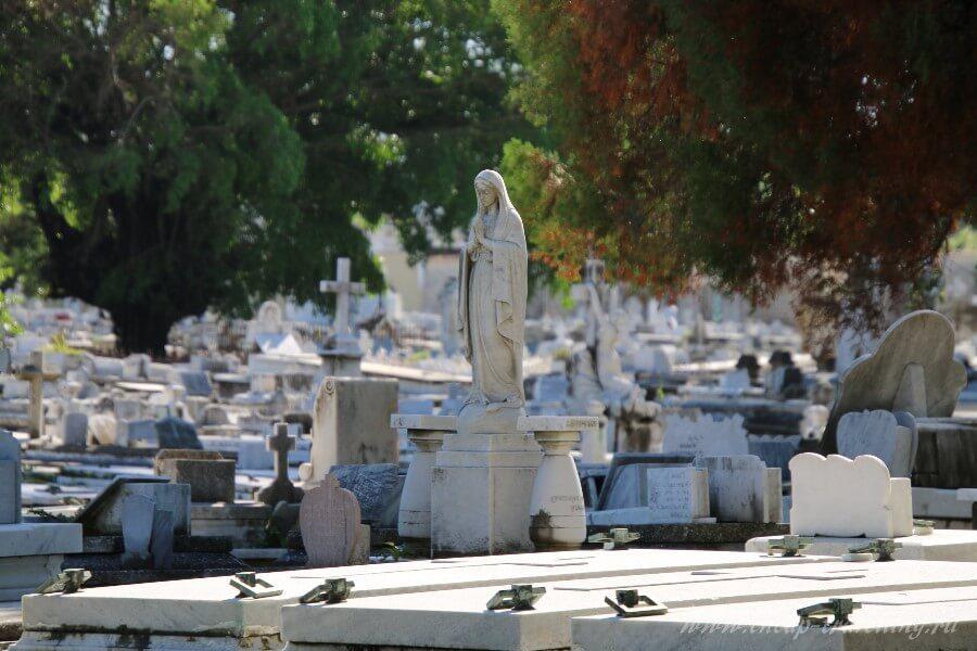 Кладбище Гаваны в Кубе