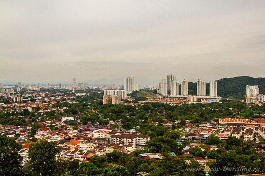 Вид с верхней площадки Kek Lok Si