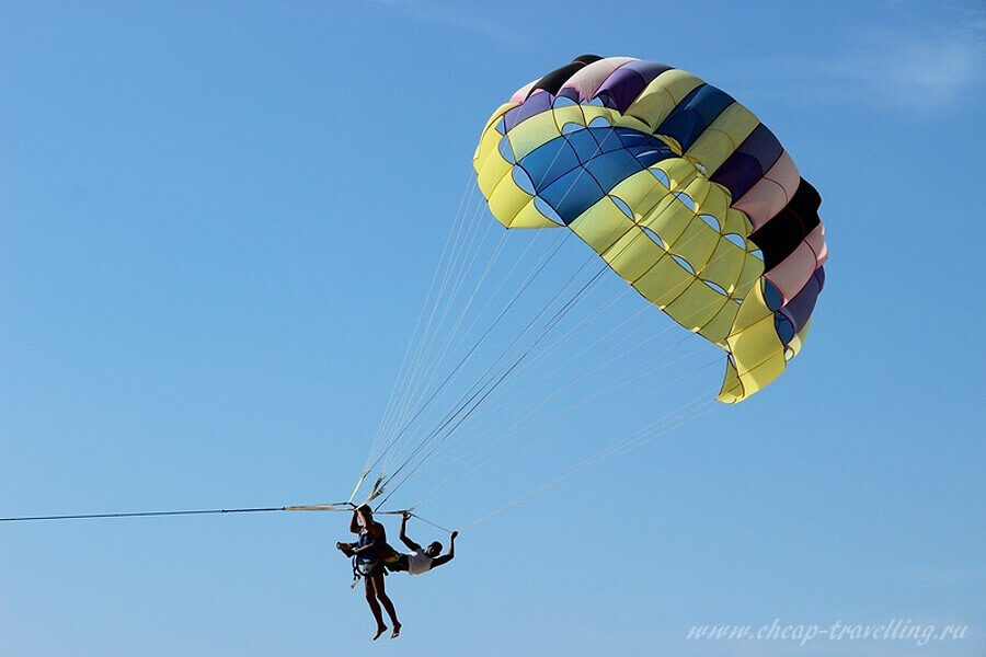 Полёт на парашюте Таиланде