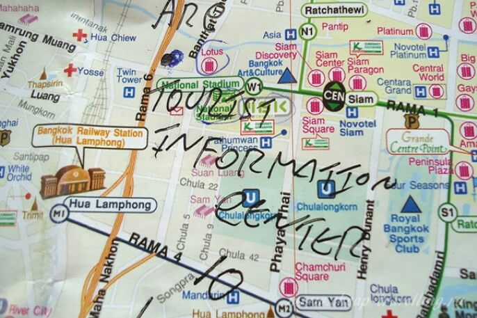Turist Infornation in Bangkok